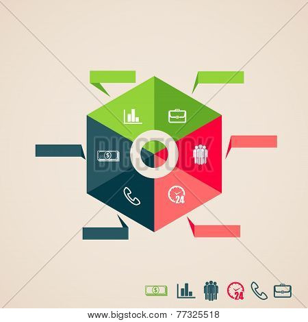vector infographic elements for web and print usage