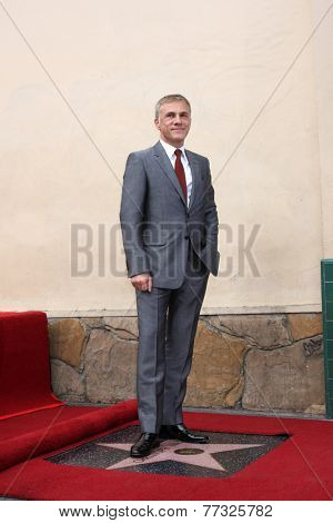 LOS ANGELES - DEC 1:  Christoph Waltz at the Christoph Waltz Hollywood Walk of Fame Star Ceremony at the Hollywood Boulevard on December 1, 2014 in Los Angeles, CA