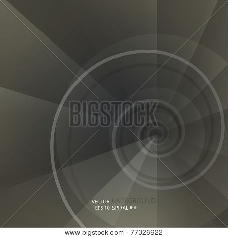 Background with spiral vortex of abstract geometric shapes