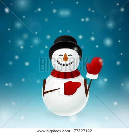 Smiley Snowman With Mittens