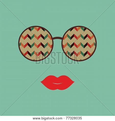 Sunglasses With Reflection Of Zigzag
