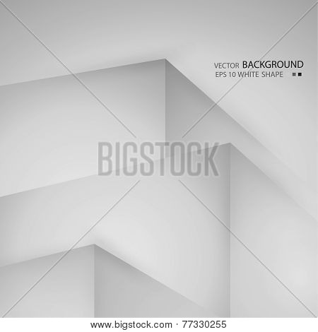 Abstract background with volumetric figures. Free blank faces