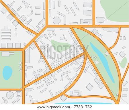 Imaginary City Map