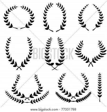 Set From Black Laurel Wreath
