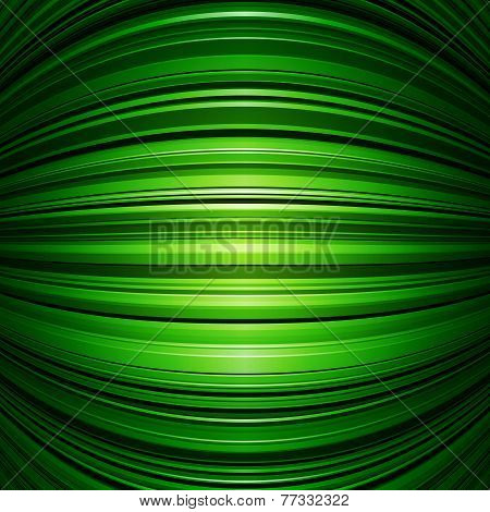 Abstract green warped stripes background