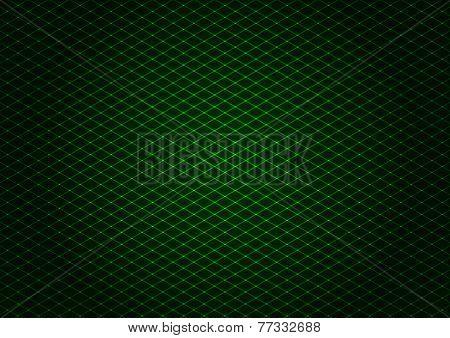 Illustration - background of green laser grid