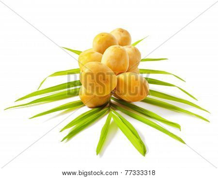 Yellow raw dates