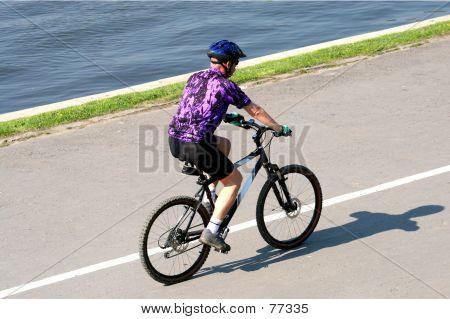 Man On His Mountainbike