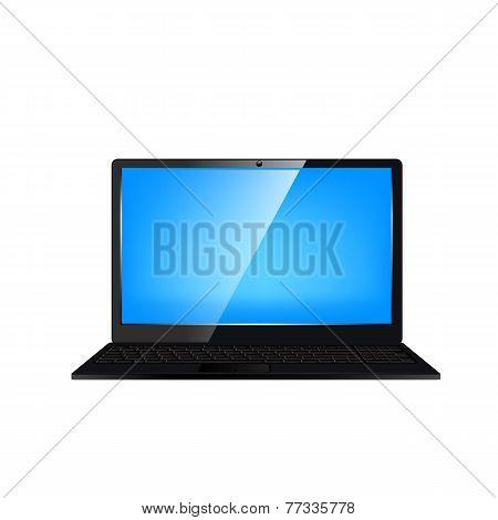 Laptop computer. Vector illustration.
