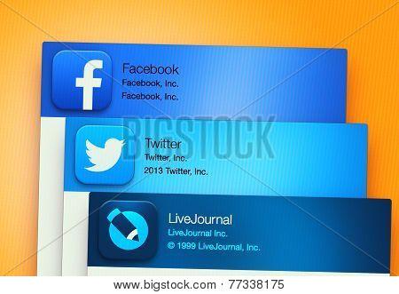 Popular Social Networking Applications