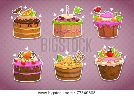 Sweet cake stickers