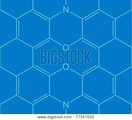 Abstract Seamless Chemical Structure Pattern