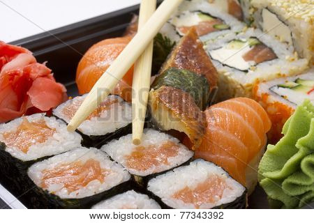 Sushi Bento Box With Chopsticks