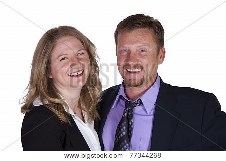 Cute Couple - Studio Shot On White Background
