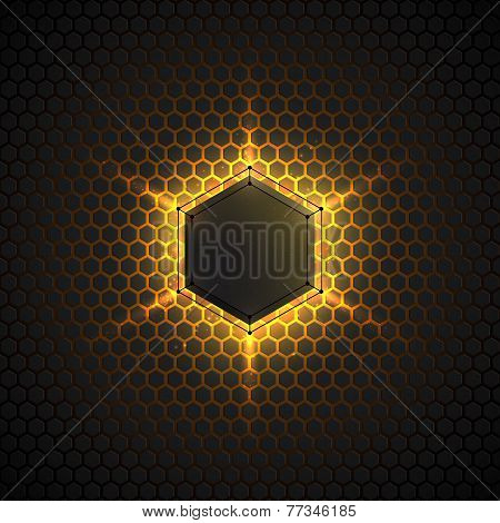 Abstract 3D Vector Dark Background