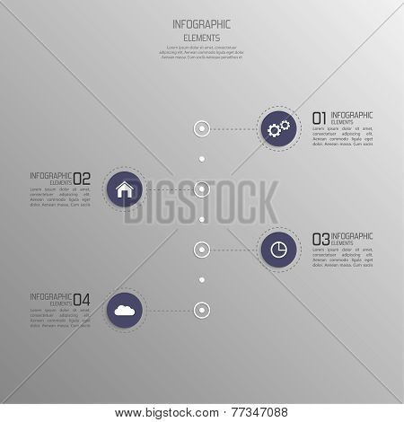 Modern template with volume elements of infographics.