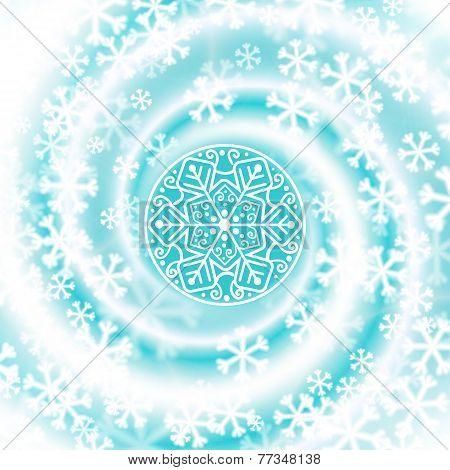 Snow Blizzard Swirl. Winter Background.