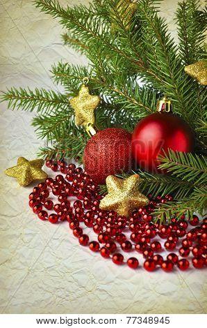 Grunge Christmas Holiday Decoration