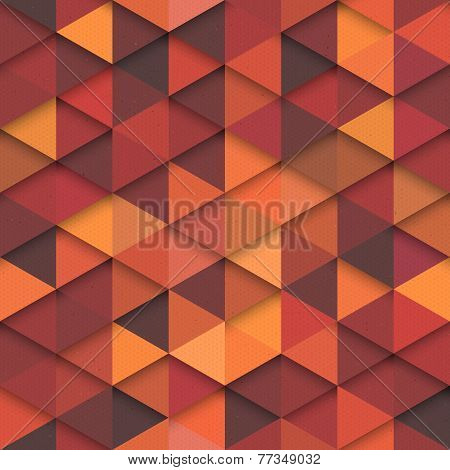 Seamless Vector Orange Fashion Pattern