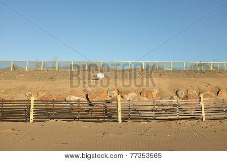 Man Made Sand Dune.