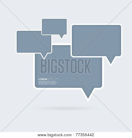 Abstract background with blue plastic rectangular boxes on a gra