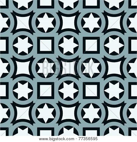 Seamless vintage ornamental tile set  in blue