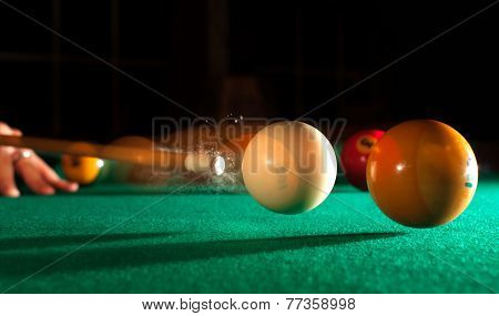 Billiards Action Shot