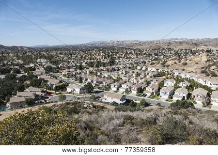 Southern California bedroom community suburban sprawl near Los Angeles.