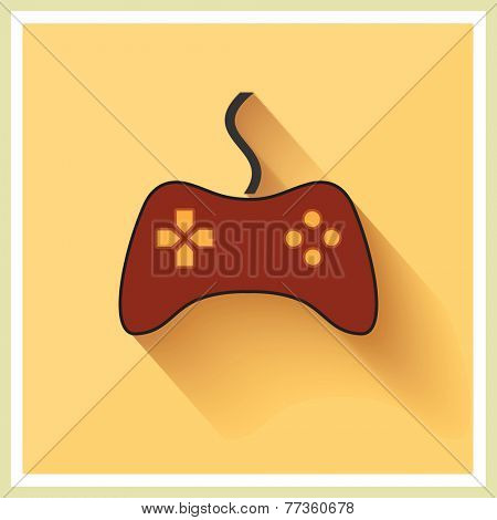 Computer Video Game Controller Joystick on Retro Background Vector