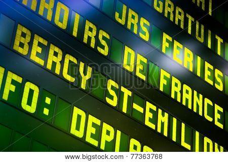 Railway Information Panel