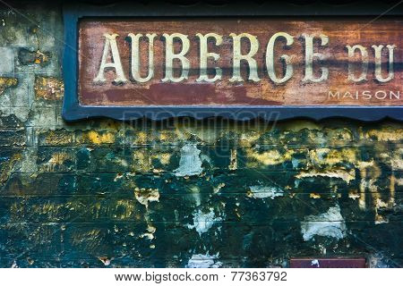 Old French Hotel Signage