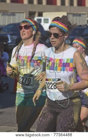 Colorful Women Color Runners