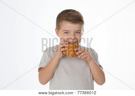 Hungry Young Boy
