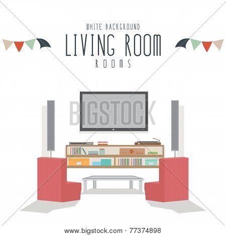 Living room (White Background)
