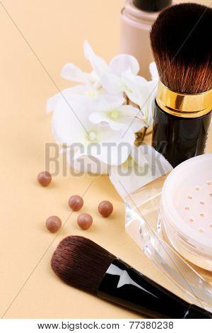 Basic make-up products, close-up