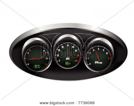 Car Dashboard Dials