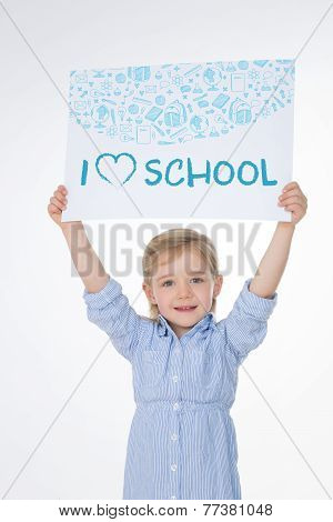 Smiling Kid On White Background