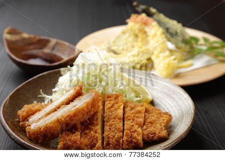 tonkatsu and tenpura
