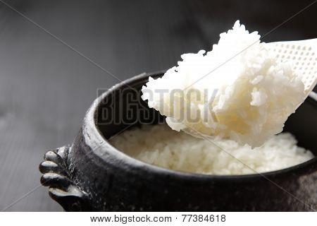 Japanese steamed white rice