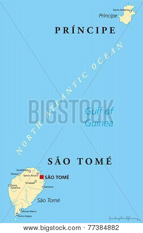 Sao Tome and Principe Political Map