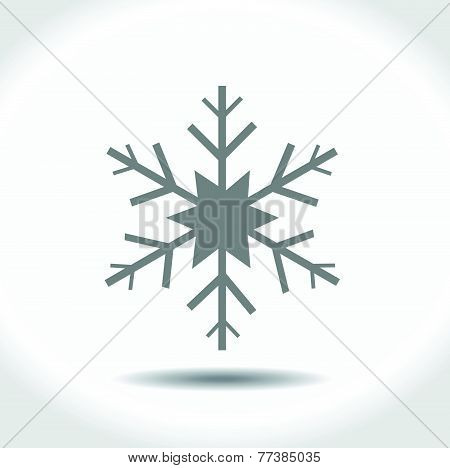 Vector snowflake for Christmas design.