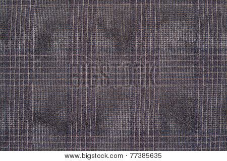 Rough Texture Checkered Fabric Of Violet Color