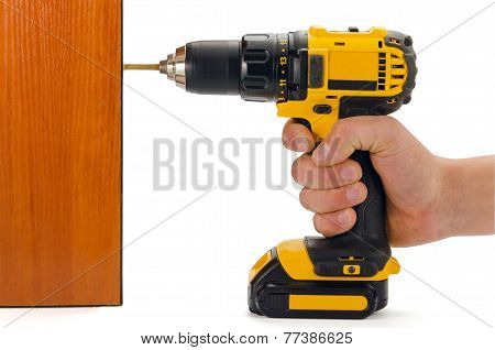 Screwdriver During Operation