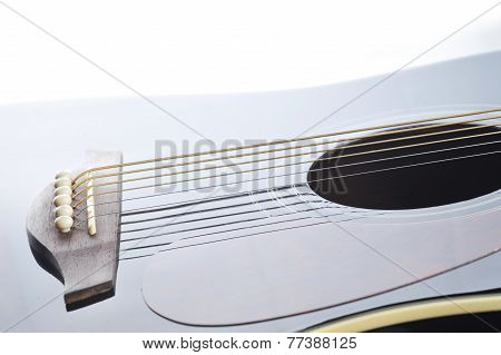 Black Guitar Closeup