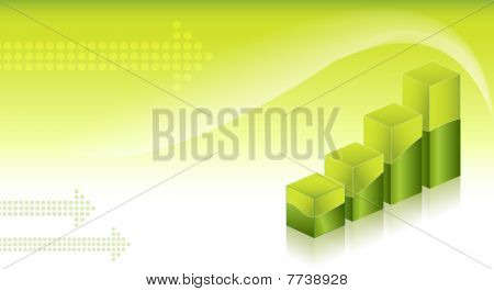 economic graph green background