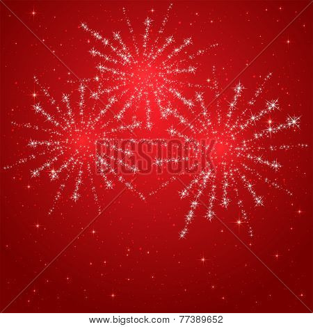 Red Starry Fireworks