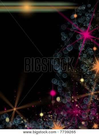 Dark background with colorful lights
