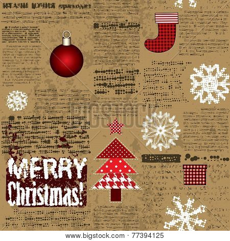 Imitation of the newspaper with Christmas elements
