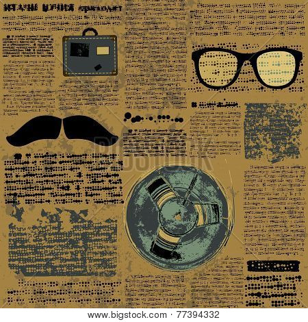 Newpaper with hipster elements