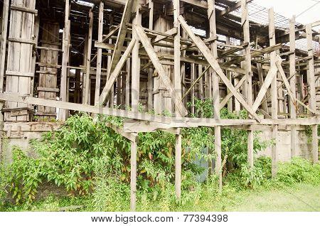 Wood Scaffold